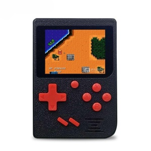 Q6 2.4 inch Handheld Game Console 800mAh Battery Built-in 129 Classic Games - Black