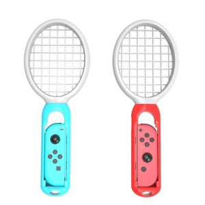 2Pcs Twins Pack Tennis Rackets for Nintendo Switch Mario Aces Play Game - Red / Blue