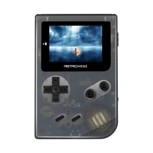Retromini Game Console 32 Bit Portable Mini Handheld Game Players Built-in 36 Games - Black