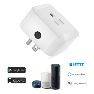 1PC Mini Wifi Smart Plug with On/Off Switch Support WiFi/Timing Function/Voice Control - US Plug