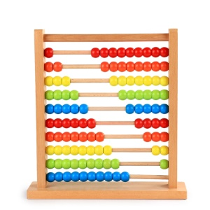 Wooden Rainbow Abacus Numbers Counting Calculating Beads Abacus Colorful Computing Frame Math Early Learning Toy