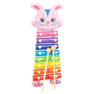 Rabbit Hand Knocks Xylophone Jean Musical Instrument Toy for Kid