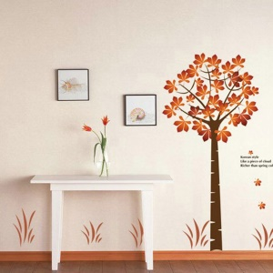 2PCS Beautiful Maple Wall Stickers Art Decals Mural DIY Wallpaper for Room Decal 60 x 90cm