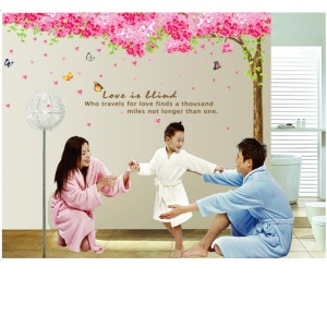 3PCS Romantic Cherry Removable Wall Stickers Art Decals Mural DIY Wallpaper for Room Decal 60 x 90cm
