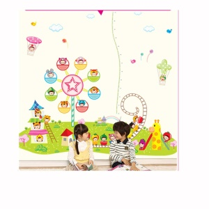 3pcs Children Playground Wall Stickers DIY Wallpaper for Room Decal 60 x 90cm