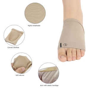1 Pair Flat Feet Orthotic Plantar Sleeve Cushion Pad Arch Support Foot Care