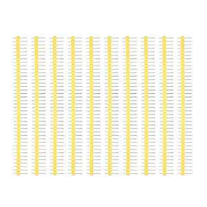 10PCS/Pack  2.54mm 40Pin Male Single Row Pin Header Strip for Arduino DIY - Yellow