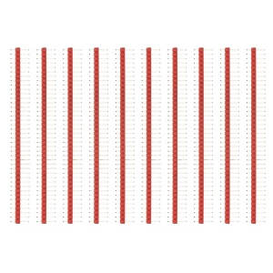 10PCS/Pack  2.54mm 40Pin Male Single Row Pin Header Strip for Arduino DIY - Red