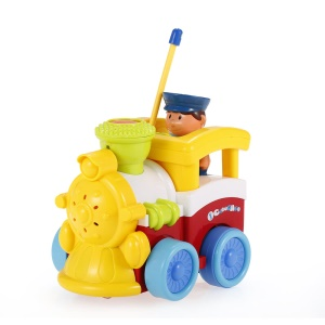 JAKMEAN 2CH Radio Control Cartoon Car Toy with Music and Lights  for Kids - Small Train