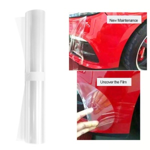 "30x300cm/11.8""x118"" Clear Anti-Scratch Paint Invisible Auto Car Protector Film"