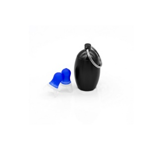1 Pair Noise Cancelling Ear Plugs Waterproof Soft Silicone Earplugs - Black / Size: M