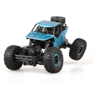 CX1809 1/16 4WD Dual Motor RC Rocha Rastreador Carro Off-road - Azul