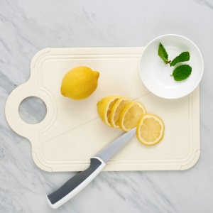 Foldable Cutting Board Antimicrobial Anti-skid Kitchen Prep Mat - Beige