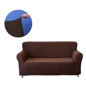 Universal Polyester Spandex Stretchable Sofa Cover Strapless Slipcover Covering Mat Furniture Protector - 2-Seater / Coffee