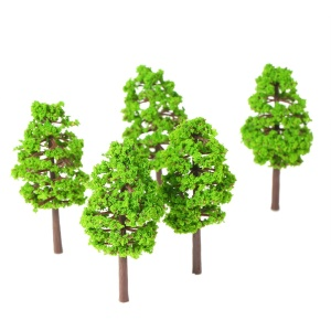 20Pcs 7cm Scale Architectural Model Trees for Railroad Layout Garden Landscape Scenery Miniatures Tree Building - Style 1