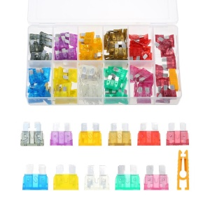 140PCS 2A-40A Automotive Standard Medium Auto Holder Car ATO Plug-in Blade Fuse Fuses Kit
