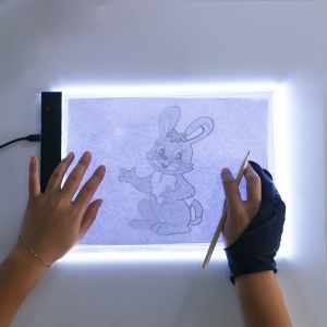 Ultra-thin A4 LED Light Box Writing Painting Tracing Board - Style 1#: 240x148mm/With Adjustable Brightness
