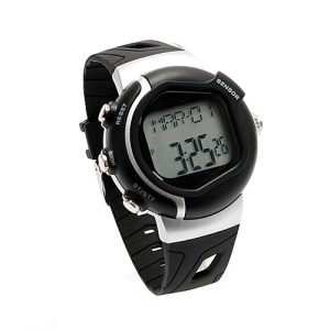 Pulse Heart Rate Monitor Calories Counter Fitness Watch - Black