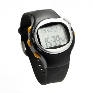 Pulse Heart Rate Monitor Calories Counter Fitness Watch - Sliver