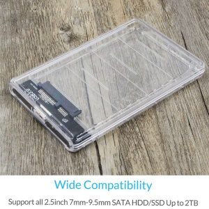 Transparent SSD High-Speed Mobile Hard Disk Box USB To SATA Serial Port with USB Cable