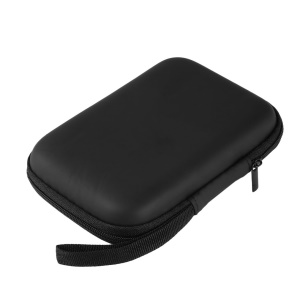 "Hard Nylon Carry Bag Compartments Case Cover for 2.5"" HDD Hard Disk - Black"