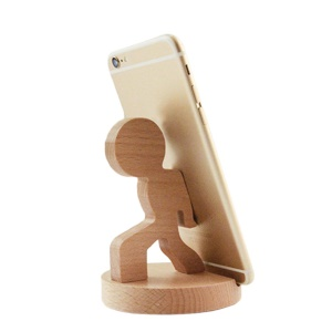 Beech Wooden Universal Phone Stand Bracket for iPhone
