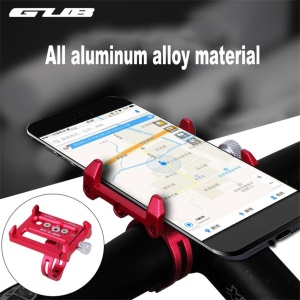 G-86 Bike Bicycle Phone Holder Aluminum Alloy Bicycle Handlebar Holder Mount, Clamp Size 50-100mm - Red