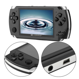 Portable 4.3-Inch TFT Display Handheld Video Music Game Console - Black
