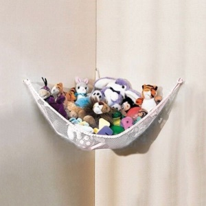 White Large JUMBO Deluxe Pet Organize Corner Stuffed Animals Toys Toy Hammock