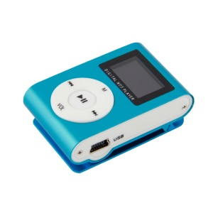 Portable MP3 Music Player Mini Media Music Player Fashion 16GB Mp3 Player - Blue