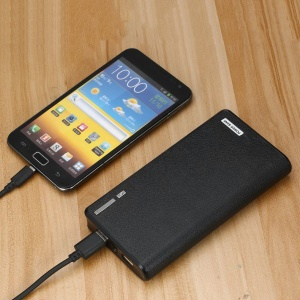 50000mAh Dual USB Port External Power Bank Backup Battery for iPhone Samsung Etc. - Black