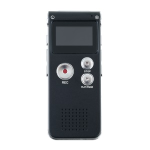 R28 8GB Digital Voice Recorder Dictaphone with U Disk Function - Black