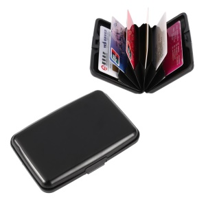Waterproof Business ID Credit Card Wallet Holder Aluminum Metal Case Box - Black