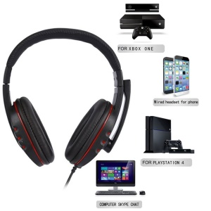 Stereo Gaming Headphone Headband 3.5mm Jack Wired Headset for Laptop, PC, Smartphone etc.