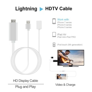 High Speed USB Female to HDMI HDTV Display Cable Adapter(80cm) for iPhone iPad iPod