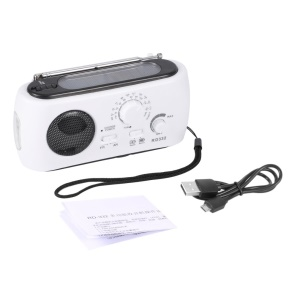 RD332 Dynamo/Solar/Battery Powered AM/FM Radio with Flashlight Earphone Jack