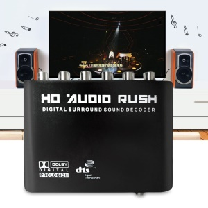 HD Audio Rush Digital Surround Sound Decode 5.1 Channel AC3/DTS Converter Decoder