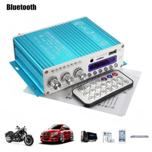 12V Digital Mini Bluetooth HiFi Stereo Audio Amplifier Stereo MP3 Music Player - Blue