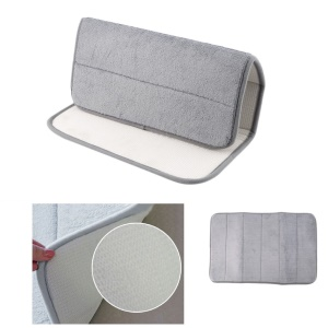 Memory Foam Bath Pad Bathroom Water Absorbent Non-slip Mats Shower Carpet - Grey