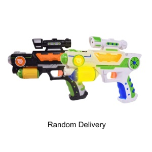 Children Role Play Games Electric Toy Gun Luminous Flash Light Music Gun - Random Color