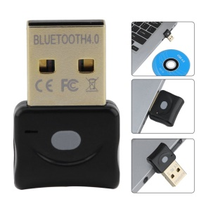 Portable Mini USB Wireless Bluetooth Dongle Adapter Bluetooth CSR4.0 Audio Transmitter - Black
