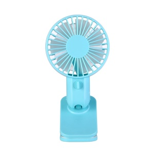 Mini USB Desktop Fan Adjustable Speeds Cooling Fan - Blue