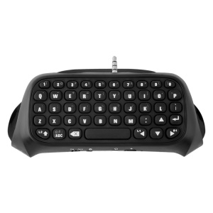 Portable 3.5mm Plug Bluetooth Keyboard Wireless Mini Keyboard for PS4 Controller - Black