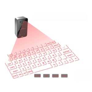 K560S Mini Portable Laser Virtual Projection Keyboard and Mouse for Tablet PC - Black