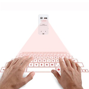 K560S Portable Virtual Laser Keyboard Mini Bluetooth Projection Keyboard for Phones - White