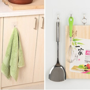 Adhesive Waterproof Hook Wall Hook Kitchen Bathroom Wall Hanger Organizer Hook