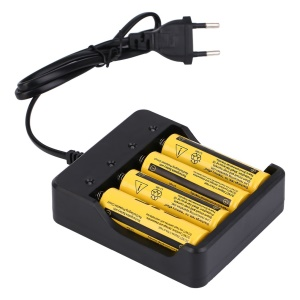 4 x 18650 3.7V 9800mAh Li-Ion Rechargeable Battery With Smart Charger Indicator