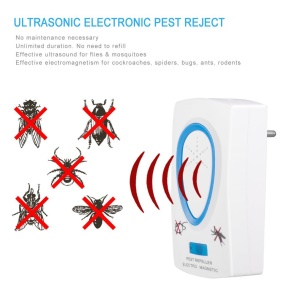 Ultrasonic Electronic Repellent Pest Mouse Bug Mosquito Repeller - EU Plug