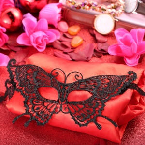 K-27 Pretty Butterfly Pattern Lace Style Party Mask Masquerade Mask