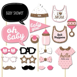 20Pcs/Set Girls Boys Baby Photo Booth Props Parties Props Shower